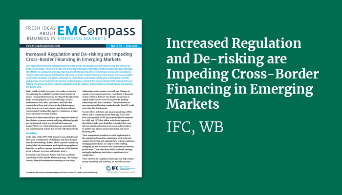 Increased Regulation and De-risking are Impeding Cross-Border Financing in Emerging Markets
