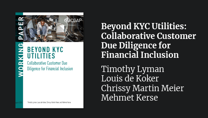 Beyond KYC Utilities: Collaborative Customer Due Diligence for Financial Inclusion